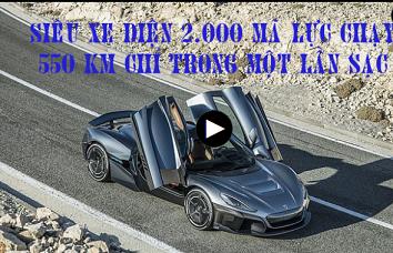 Siêu xe điện 2.000 mã lực chạy 550 km chỉ trong một lần sạc