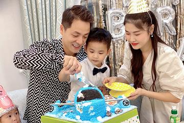 Đăng Khôi, Thủy Anh tổ chức sinh nhật cho con trai trong biệt thự mới