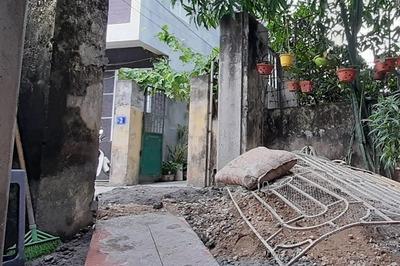 Côn đồ Hải Phòng đổ bê tông bịt cổng nhà dân để đòi nhà trừ nợ