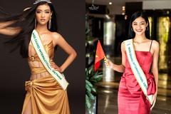 Kiều Loan mắt thâm quầng sau 40 tiếng bay dự thi Miss Grand International