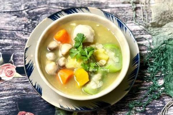 Bữa ăn đủ chất, giàu vitamin với món canh chay thập cẩm