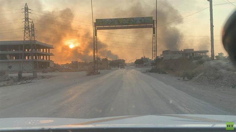 Video dân Syria cuồng cuồng tháo chạy khỏi bom đạn Thổ
