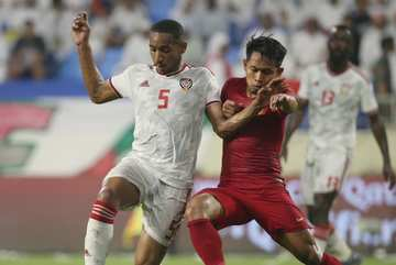 Video bàn thắng UAE 5-0 Indonesia