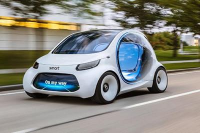 Xe điện tự hành không tay lái đầu tiên của Mercedes lộ diện