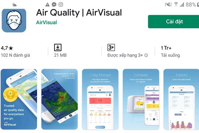 AirVisual App available again in Vietnam following online attacks