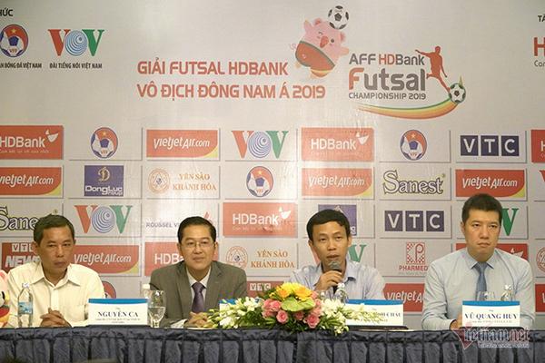Giải futsal VĐ ĐNÁ 2019,giải futsal HDBank,futsal Đông Nam Á 2019