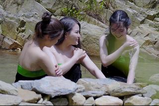 Ca sĩ Đinh Trang kể cảnh quay tắm suối trượt chân bị ngã