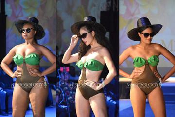 Thí sinh Hoa hậu Trái đất thừa cân, lộ eo bánh mì khi mặc áo tắm