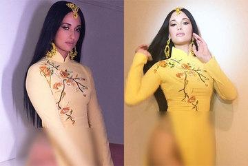 Ngô Thanh Vân nổi giận vì ca sĩ Mỹ mặc áo dài không quần phản cảm