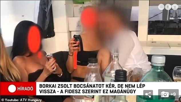 Lộ video tiệc truy hoan của quan chức Hungary