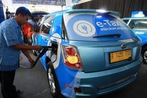 taxi chạy điện,taxi cao cấp,dịch vụ taxi,Indonesia