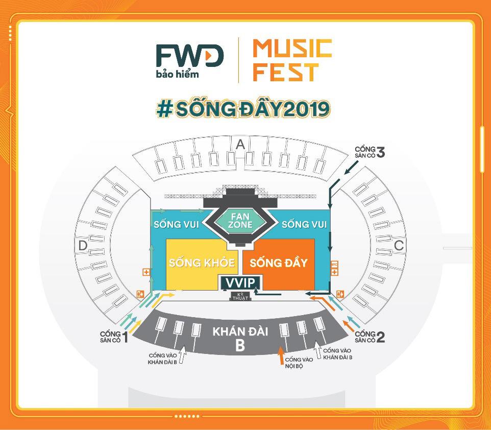 FWD Music Fest không dành cho trẻ em dưới 1,3m