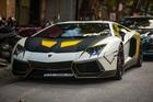 Lamborghini Aventador độ ống xả khủng, lột xác với decal mới