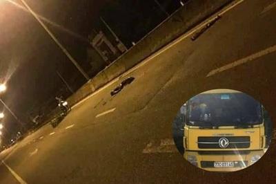 Gặp nạn nhân nằm giữa đường, tài xế xe tải cán qua chân rồi bỏ chạy