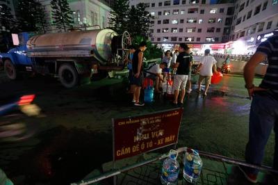 Ngừng cấp nước vô thời hạn, công ty nước sạch mong dân thông cảm