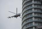 Trực thăng, cứu hỏa triệu đô trình diễn chữa cháy dưới mưa tầm tã