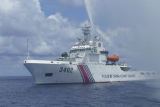 Chinese coastguard ships 'deliberately visible' in the East Sea