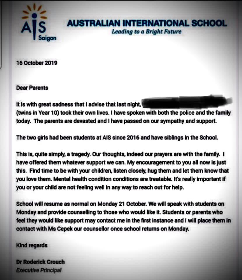 Học sinh,Trường Quốc tế,tự tử