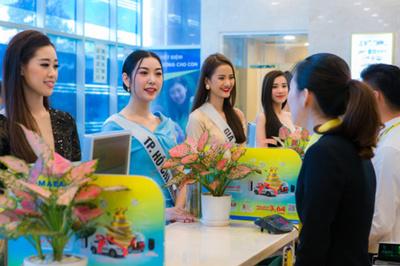 Top 60 Hoa hậu Hoàn vũ Việt Nam 2019 trải nghiệm dịch vụ Nam A Bank