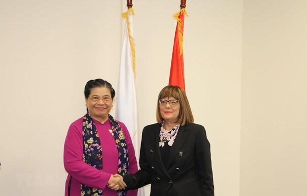Vietnamese NA Vice Chairwoman meets top Serbian legislator