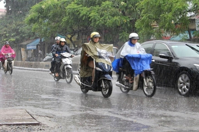 Dự báo thời tiết 18/10, Hà Nội mưa rào