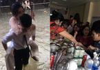 Chú rể Nghệ An cõng cô dâu lội nước, cả họ ăn cỗ trong bóng tối