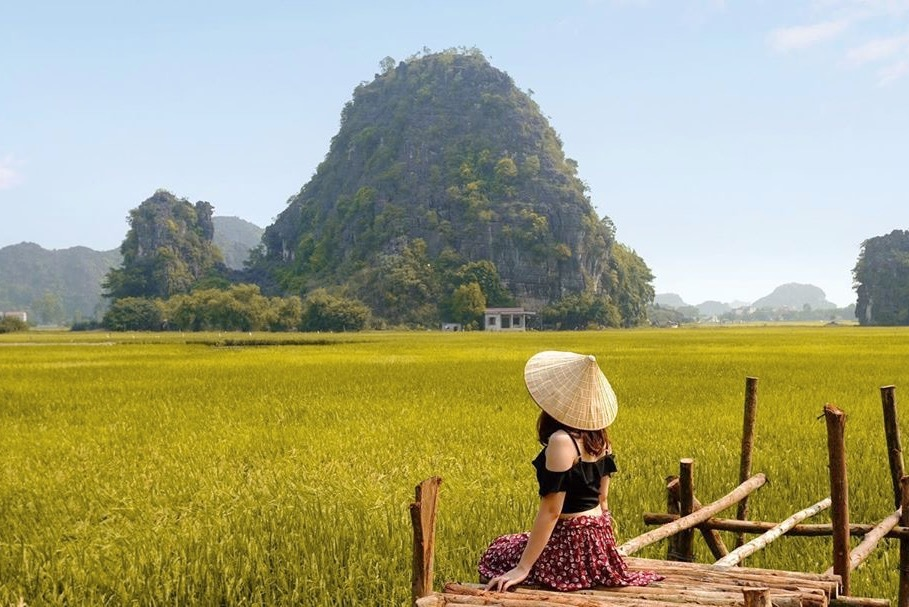 Sen nở rộ, lúa trải vàng ở 'thánh địa sống ảo miền Bắc'