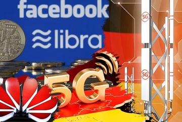 Đức 'mở cửa' cho Huawei phát triển 5G, các 'ông lớn' ghẻ lạnh tiền ảo Libra