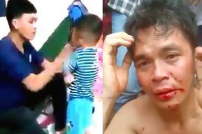 Công an thông tin vụ cha đánh con từ 2 năm trước, bị dân mạng 'dạy bảo'