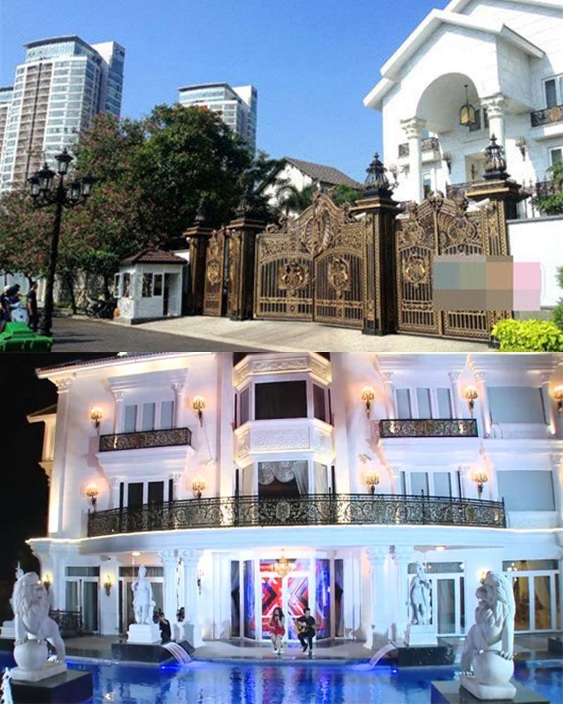 Những ngôi nhà dát vàng, xa xỉ của sao Việt