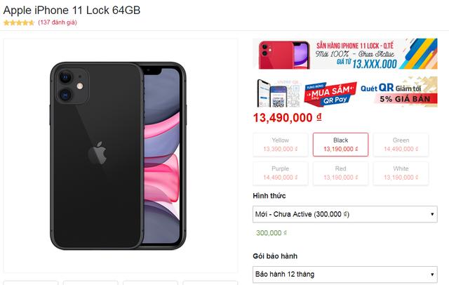 iPhone 11 khóa mạng Mỹ gây 'sốt' ở Việt Nam, giá hơn 13 triệu