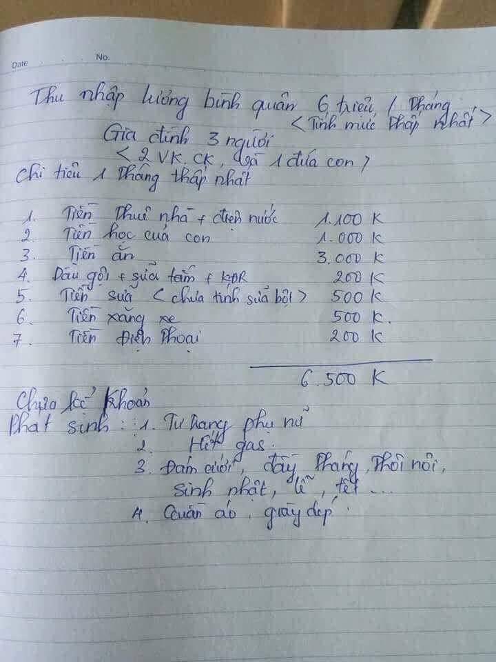 Nhà 3 người chi tiêu 6,5 triệu/tháng ở Hà Nội: Chuyện thật hay đùa?