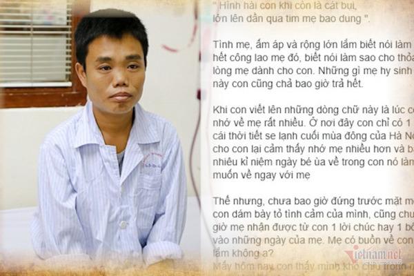 Xúc động bức thư gửi mẹ ngày 20/10 của chàng trai cả đời gắn với bệnh viện