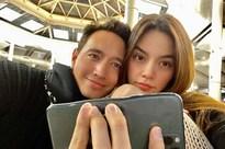 Kim Lý - Hồ Ngọc Hà đăng ảnh đẹp đôi nhưng trông phát khiếp vì chiếc điện thoại bị 'nung chảy'