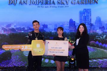 Khách hàng Imperia Sky Garden may mắn nhận thưởng 2,8 tỷ đồng