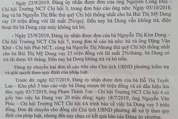 Nữ cựu cán bộ ở Bình Định bị tố vay tiền nhiều người cao tuổi rồi bỏ trốn