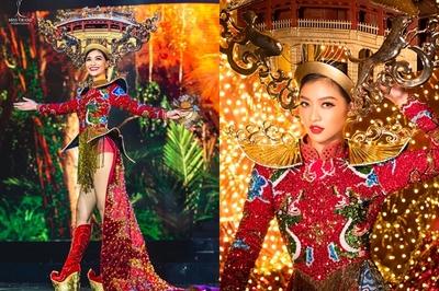 Á hậu Kiều Loan vẫn tự tin dù gặp sự cố trang phục về Hội An gắn 2000 bóng đèn
