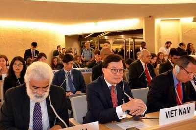 Việt Nam tích cực đóng góp xây dựng các dự thảo nghị quyết, đồng bảo trợ nhiều sáng kiến