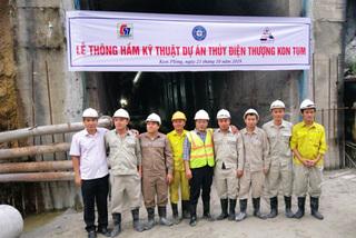 Thông hầm kỹ thuật dự án thủy điện lớn nhất Tây Nguyên