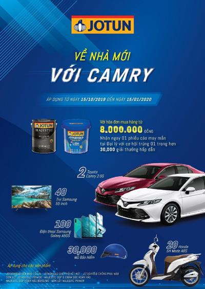 Cơ hội sở hữu Toyota Camry khi mua sơn Jotun