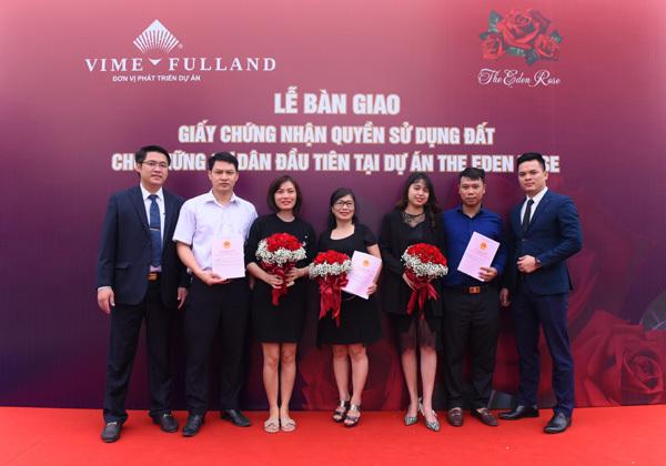 Lễ bàn giao 'sổ đỏ' cho cư dân đầu tiên Dự án The Eden Rose