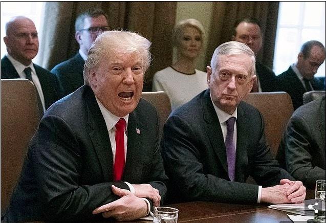 Lầu Năm Góc,Jim Mattis,Bộ trưởng Quốc phòng,Tổng thống Mỹ,Donald Trump