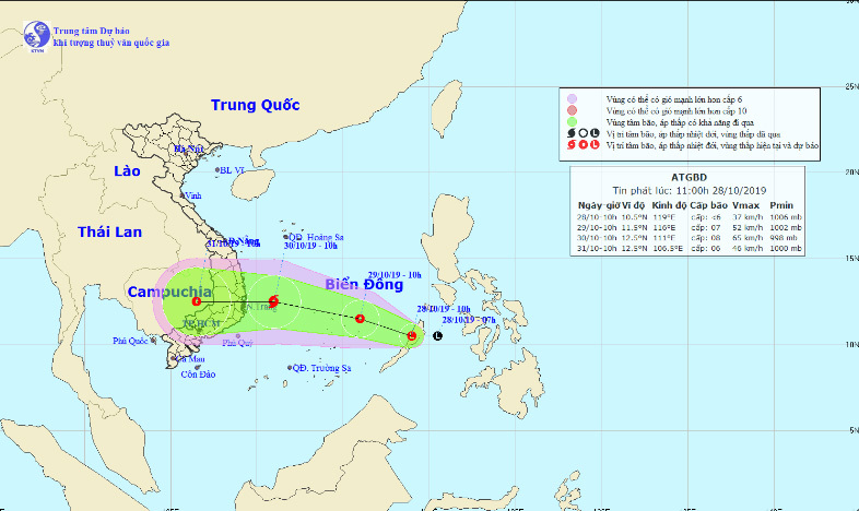 Áp thấp nhiệt đới khả năng mạnh thành bão vào Biển Đông