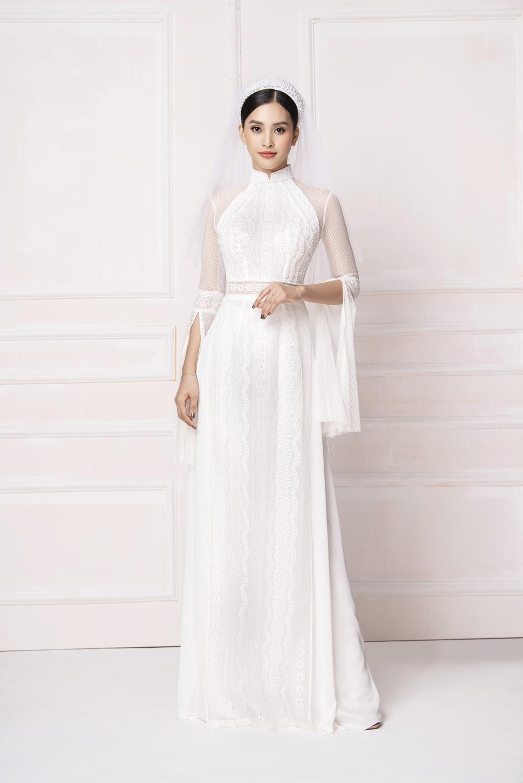 Hoa hậu Tiểu Vy hóa cô dâu e ấp với áo dài