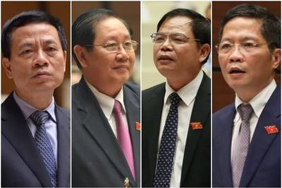 Chốt 4 bộ trưởng đăng đàn trả lời chất vấn