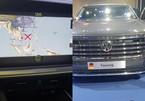 'Đường lưỡi bò' trên xe Volkswagen trưng bày tại Triển lãm ô tô Việt Nam