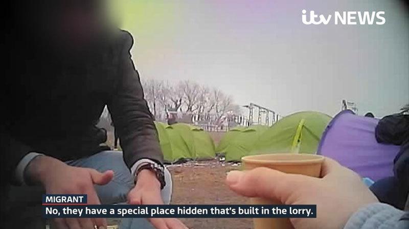 Lán trại tạm trong rừng và sự liều lĩnh của người vượt biên vào Anh