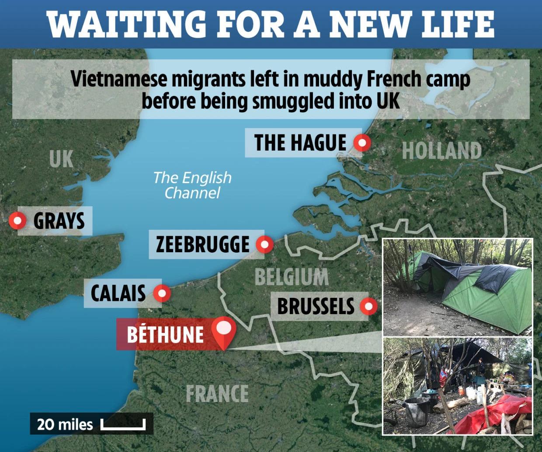Vụ 39 người chết,vụ án giết người,nhập cư trái phép,buôn người,Pháp,Anh,Bỉ