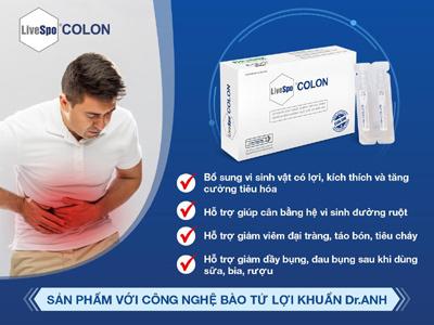 men vi sinh,lợi khuẩn Bacillus,Viêm đại tràng