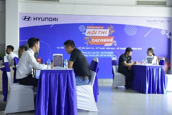 Sôi động hội thi tay nghề Hyundai Ngọc An 2019